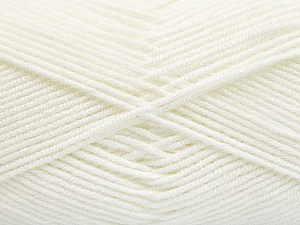 Fiber Content 50% Bamboo, 50% Acrylic, White, Brand ICE, Yarn Thickness 2 Fine  Sport, Baby, fnt2-53089