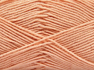 Fiber Content 50% Bamboo, 50% Acrylic, Light Salmon, Brand ICE, Yarn Thickness 2 Fine  Sport, Baby, fnt2-53096