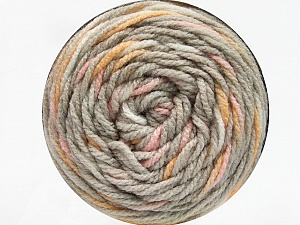 Fiber Content 80% Acrylic, 20% Polyamide, Yellow, Light Pink, Brand ICE, Beige, Yarn Thickness 4 Medium  Worsted, Afghan, Aran, fnt2-53204