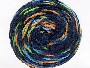 Fiber Content 80% Acrylic, 20% Polyamide, Navy, Brand ICE, Green, Cafe Latte, Blue, Yarn Thickness 4 Medium  Worsted, Afghan, Aran, fnt2-53209