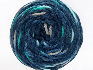 Fiber Content 80% Acrylic, 20% Polyamide, Turquoise, Brand ICE, Grey, Blue Shades, Yarn Thickness 4 Medium  Worsted, Afghan, Aran, fnt2-53210