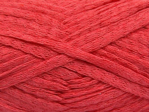 Fiber Content 100% Cotton, Salmon, Brand ICE, Yarn Thickness 5 Bulky  Chunky, Craft, Rug, fnt2-53229