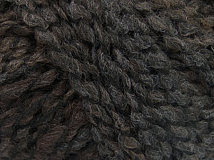 Please note that this is a self-striping yarn and self-effecting. Please see knitted sample to see the color and effect variation. Fiber Content 38% Wool, 32% Acrylic, 20% Alpaca, 10% Polyamide, Brand ICE, Grey, Brown, Black, Yarn Thickness 4 Medium  Worsted, Afghan, Aran, fnt2-53366