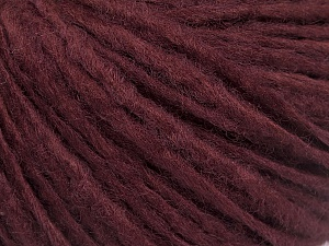 Fiber Content 50% Acrylic, 50% Wool, Brand ICE, Burgundy, Yarn Thickness 4 Medium  Worsted, Afghan, Aran, fnt2-53510