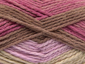 Fiber Content 70% Acrylic, 30% Wool, Orchid, Lilac, Brand ICE, Brown, Beige, Yarn Thickness 4 Medium  Worsted, Afghan, Aran, fnt2-53555
