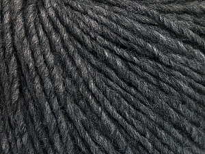 Fiber Content 50% Acrylic, 50% Wool, Brand ICE, Dark Grey Melange, Yarn Thickness 4 Medium  Worsted, Afghan, Aran, fnt2-53613