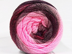 Fiber Content 90% Acrylic, 10% Polyamide, Pink Shades, Maroon, Brand Ice Yarns, Burgundy, fnt2-53722