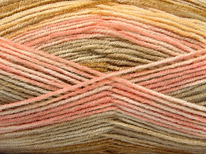 Fiber Content 70% Acrylic, 30% Wool, Yellow, Pink, Olive Green, Brand ICE, Yarn Thickness 2 Fine  Sport, Baby, fnt2-53769