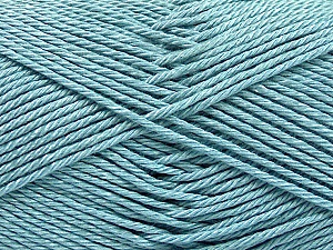 Fiber Content 100% Mercerised Cotton, Light Blue, Brand ICE, Yarn Thickness 2 Fine  Sport, Baby, fnt2-53795