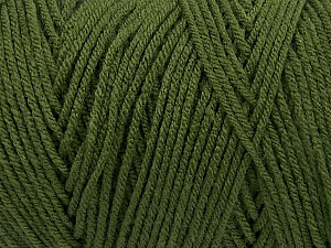 Items made with this yarn are machine washable & dryable. Fiber Content 100% Dralon Acrylic, Brand Ice Yarns, Dark Green, Yarn Thickness 4 Medium  Worsted, Afghan, Aran, fnt2-53921