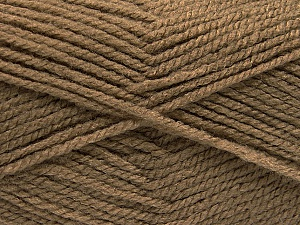 Worsted  Fiber Content 100% Acrylic, Brand ICE, Camel, Yarn Thickness 4 Medium  Worsted, Afghan, Aran, fnt2-53926