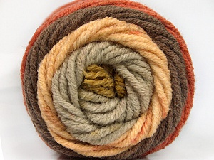 Fiber Content 70% Acrylic, 30% Wool, Olive Green, Brand ICE, Copper, Brown, Beige, Yarn Thickness 5 Bulky  Chunky, Craft, Rug, fnt2-54073