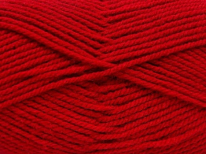 Worsted  Fiber Content 100% Acrylic, Brand ICE, Dark Red, Yarn Thickness 4 Medium  Worsted, Afghan, Aran, fnt2-54079