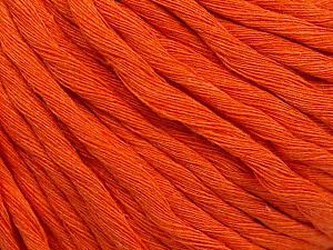 Fiber Content 100% Cotton, Orange, Brand ICE, Yarn Thickness 5 Bulky  Chunky, Craft, Rug, fnt2-54125