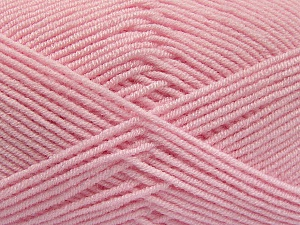 Fiber Content 50% Acrylic, 50% Bamboo, Light Pink, Brand ICE, Yarn Thickness 2 Fine  Sport, Baby, fnt2-54129