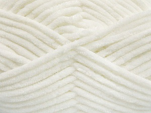 Fiber Content 100% Micro Fiber, White, Brand ICE, Yarn Thickness 4 Medium  Worsted, Afghan, Aran, fnt2-54138