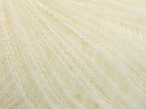 Fiber Content 37% Kid Mohair, 35% Acrylic, 28% Polyamide, Off White, Brand ICE, Yarn Thickness 1 SuperFine  Sock, Fingering, Baby, fnt2-54226