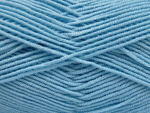 Fiber Content 50% Bamboo, 50% Acrylic, Brand ICE, Baby Blue, Yarn Thickness 2 Fine  Sport, Baby, fnt2-54232