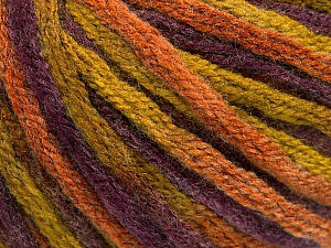 Fiber Content 50% Acrylic, 50% Wool, Purple, Olive Green, Brand ICE, Copper, Yarn Thickness 6 SuperBulky  Bulky, Roving, fnt2-54410