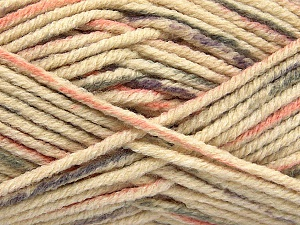 Fiber Content 80% Acrylic, 20% Polyamide, Lilac, Light Salmon, Brand ICE, Grey, Cream, Yarn Thickness 5 Bulky  Chunky, Craft, Rug, fnt2-54415