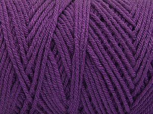Items made with this yarn are machine washable & dryable. Fiber Content 100% Dralon Acrylic, Purple, Brand ICE, Yarn Thickness 4 Medium  Worsted, Afghan, Aran, fnt2-54426