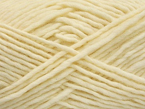Fiber Content 100% Wool, Brand ICE, Cream, Yarn Thickness 5 Bulky  Chunky, Craft, Rug, fnt2-54432