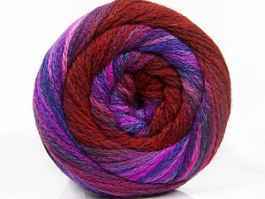 Fiber Content 90% Acrylic, 10% Polyamide, Lilac Shades, Brand ICE, Burgundy, Yarn Thickness 4 Medium  Worsted, Afghan, Aran, fnt2-54530