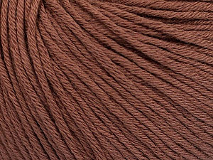 Global Organic Textile Standard (GOTS) Certified Product. CUC-TR-017 PRJ 805332/918191 Fiber Content 100% Organic Cotton, Rose Brown, Brand ICE, Yarn Thickness 3 Light  DK, Light, Worsted, fnt2-54795