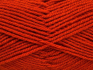 Worsted  Fiber Content 100% Acrylic, Orange, Brand ICE, Yarn Thickness 4 Medium  Worsted, Afghan, Aran, fnt2-54877