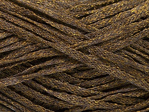Fiber Content 82% Viscose, 18% Polyester, Brand ICE, Gold, Dark Brown, Yarn Thickness 4 Medium  Worsted, Afghan, Aran, fnt2-54959