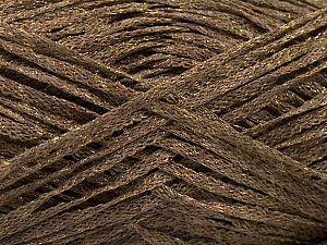 Fiber Content 82% Viscose, 18% Polyester, Brand ICE, Gold, Brown, Yarn Thickness 4 Medium  Worsted, Afghan, Aran, fnt2-54960