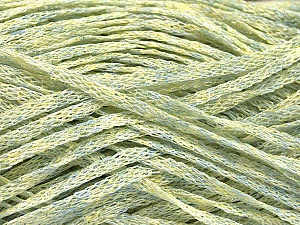 Fiber Content 82% Viscose, 18% Polyester, Mint Green, Brand ICE, Gold, Yarn Thickness 4 Medium  Worsted, Afghan, Aran, fnt2-54975