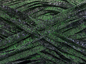 Fiber Content 82% Viscose, 18% Polyester, Brand ICE, Green, Black, Yarn Thickness 5 Bulky  Chunky, Craft, Rug, fnt2-55006