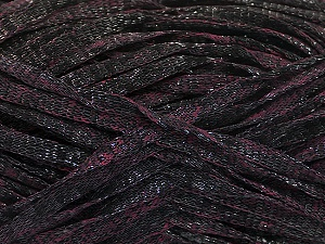 Fiber Content 82% Viscose, 18% Polyester, Maroon, Brand ICE, Black, Yarn Thickness 5 Bulky  Chunky, Craft, Rug, fnt2-55010