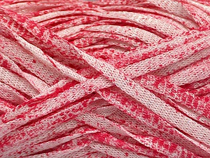 Fiber Content 82% Viscose, 18% Polyester, White, Pink, Brand ICE, Yarn Thickness 5 Bulky  Chunky, Craft, Rug, fnt2-55015