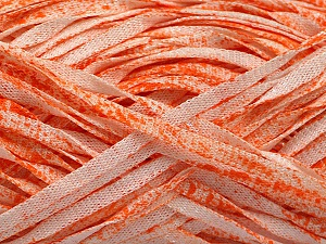 Fiber Content 82% Viscose, 18% Polyester, White, Orange, Brand ICE, Yarn Thickness 5 Bulky  Chunky, Craft, Rug, fnt2-55016
