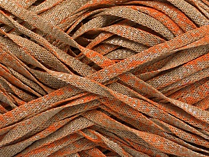 Fiber Content 82% Viscose, 18% Polyester, Orange, Brand ICE, Camel, Yarn Thickness 5 Bulky  Chunky, Craft, Rug, fnt2-55030