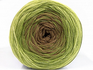 Fiber Content 50% Acrylic, 50% Cotton, Brand ICE, Green, Camel, Yarn Thickness 2 Fine  Sport, Baby, fnt2-55057