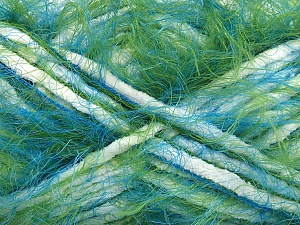 Fiber Content 70% Micro Fiber, 30% Polyamide, White, Turquoise, Brand ICE, Green, Blue, Yarn Thickness 5 Bulky  Chunky, Craft, Rug, fnt2-55151