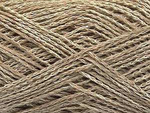 Fiber Content 35% Cotton, 35% Acrylic, 30% Viscose, Brand ICE, Beige Melange, Yarn Thickness 2 Fine  Sport, Baby, fnt2-55185