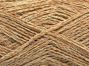 Fiber Content 35% Cotton, 35% Acrylic, 30% Viscose, Brand ICE, Cream, Cafe Latte, Yarn Thickness 2 Fine  Sport, Baby, fnt2-55186