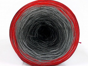 Fiber Content 50% Acrylic, 50% Cotton, Red, Brand ICE, Grey Shades, Black, Yarn Thickness 2 Fine  Sport, Baby, fnt2-55242