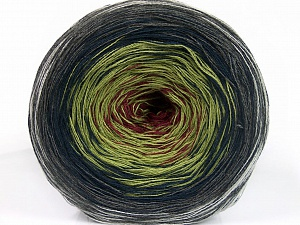 Fiber Content 50% Acrylic, 50% Cotton, Maroon, Brand ICE, Grey Shades, Green Shades, Yarn Thickness 2 Fine  Sport, Baby, fnt2-55244
