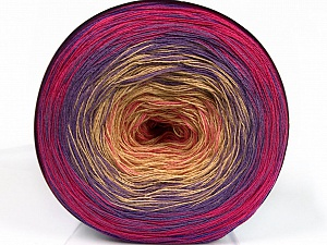 Fiber Content 50% Acrylic, 50% Cotton, Pink Shades, Lilac Shades, Brand ICE, Yarn Thickness 2 Fine  Sport, Baby, fnt2-55249