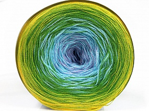 Fiber Content 50% Acrylic, 50% Cotton, Yellow, Lilac, Light Blue, Brand ICE, Green Shades, Yarn Thickness 2 Fine  Sport, Baby, fnt2-55253