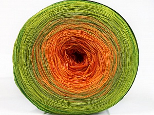 Fiber Content 50% Acrylic, 50% Cotton, Orange Shades, Brand Ice Yarns, Green Shades, Yarn Thickness 2 Fine  Sport, Baby, fnt2-55254