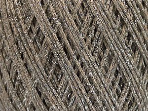 Fiber Content 50% Cotton, 30% Acrylic, 20% Metallic Lurex, Silver, Brand ICE, Camel, Yarn Thickness 3 Light  DK, Light, Worsted, fnt2-55291