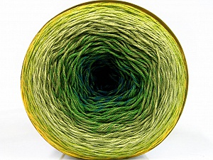 Fiber Content 50% Acrylic, 50% Cotton, Yellow, Turquoise, Brand ICE, Green Shades, Yarn Thickness 2 Fine  Sport, Baby, fnt2-55318
