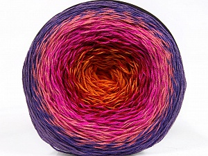 Fiber Content 50% Acrylic, 50% Cotton, Red, Purple, Pink Shades, Orange, Brand ICE, Yarn Thickness 2 Fine  Sport, Baby, fnt2-55321