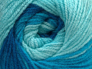Fiber Content 100% Acrylic, Turquoise Shades, Brand ICE, Yarn Thickness 3 Light  DK, Light, Worsted, fnt2-55355